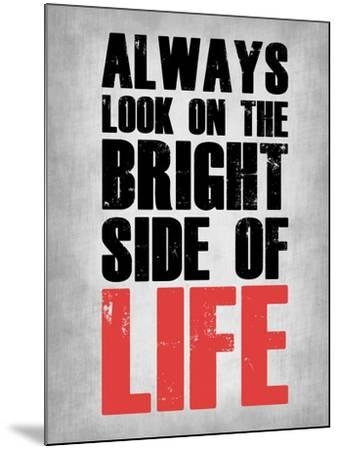 Bright Side of Life  Grey-NaxArt-Mounted Art Print