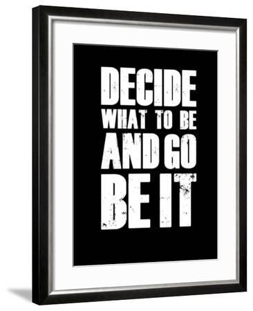 Be it Black-NaxArt-Framed Art Print