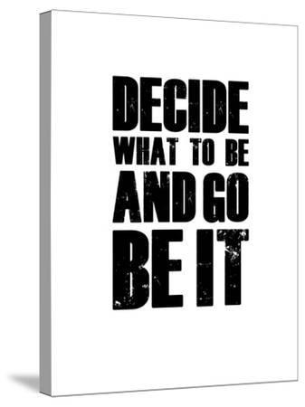 Be it White-NaxArt-Stretched Canvas Print