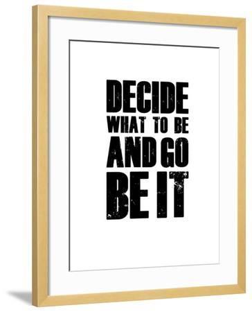 Be it White-NaxArt-Framed Art Print