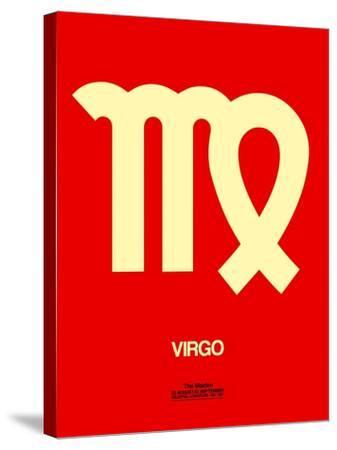 Virgo Zodiac Sign Yellow-NaxArt-Stretched Canvas Print