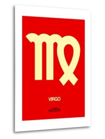 Virgo Zodiac Sign Yellow-NaxArt-Metal Print