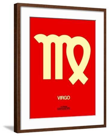 Virgo Zodiac Sign Yellow-NaxArt-Framed Art Print