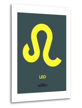 Leo Zodiac Sign Yellow-NaxArt-Metal Print
