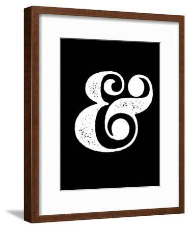 Ampersand Black-NaxArt-Framed Art Print
