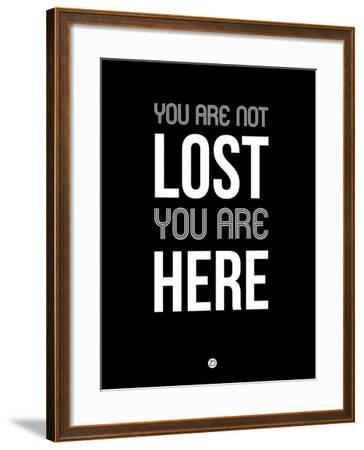You are Not Lost Black-NaxArt-Framed Art Print