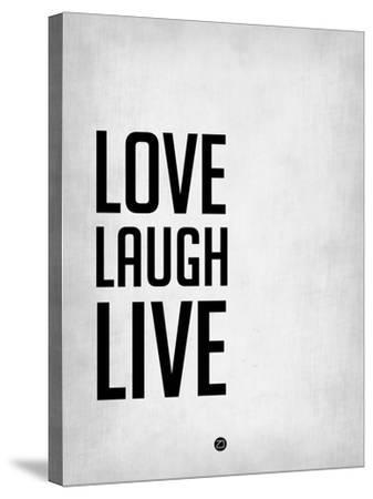 Love Laugh Live Grey-NaxArt-Stretched Canvas Print