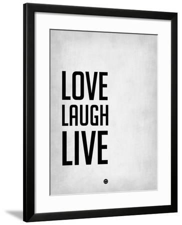 Love Laugh Live Grey-NaxArt-Framed Art Print
