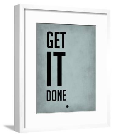 Get it Done Blue-NaxArt-Framed Premium Giclee Print