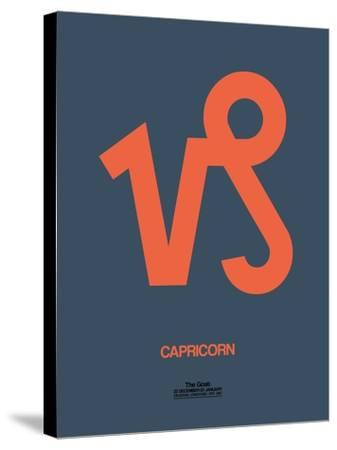 Capricorn Zodiac Sign Orange-NaxArt-Stretched Canvas Print