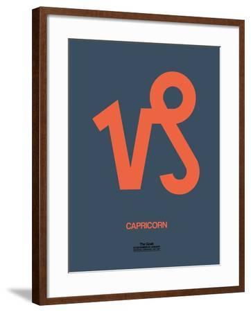 Capricorn Zodiac Sign Orange-NaxArt-Framed Art Print