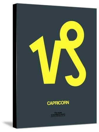 Capricorn Zodiac Sign Yellow-NaxArt-Stretched Canvas Print