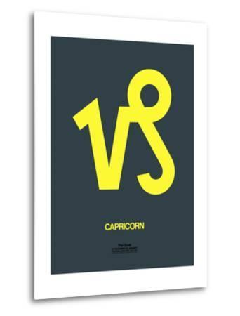 Capricorn Zodiac Sign Yellow-NaxArt-Metal Print