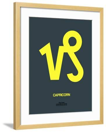 Capricorn Zodiac Sign Yellow-NaxArt-Framed Art Print