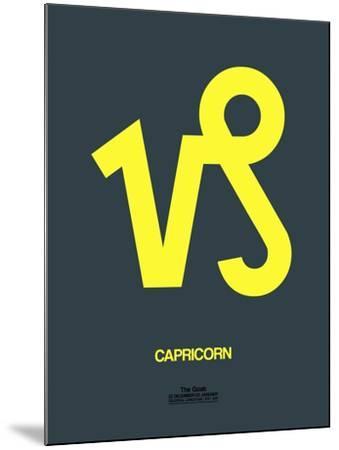 Capricorn Zodiac Sign Yellow-NaxArt-Mounted Art Print