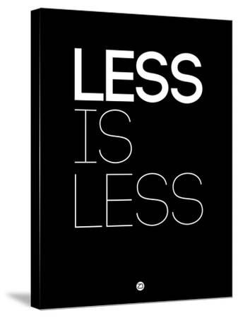 Less Is Less Black-NaxArt-Stretched Canvas Print