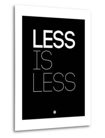 Less Is Less Black-NaxArt-Metal Print