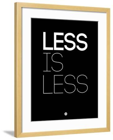 Less Is Less Black-NaxArt-Framed Art Print