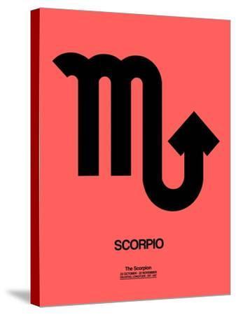 Scorpio Zodiac Sign Black-NaxArt-Stretched Canvas Print