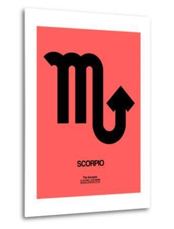 Scorpio Zodiac Sign Black-NaxArt-Metal Print