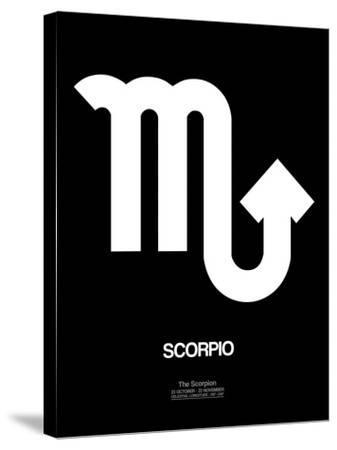 Scorpio Zodiac Sign White-NaxArt-Stretched Canvas Print