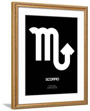 Scorpio Zodiac Sign White-NaxArt-Framed Art Print