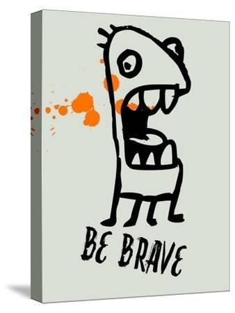 Be Brave 1-Lina Lu-Stretched Canvas Print