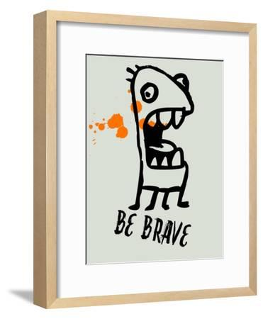 Be Brave 1-Lina Lu-Framed Art Print