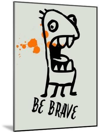 Be Brave 1-Lina Lu-Mounted Art Print