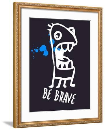 Be Brave 2-Lina Lu-Framed Art Print