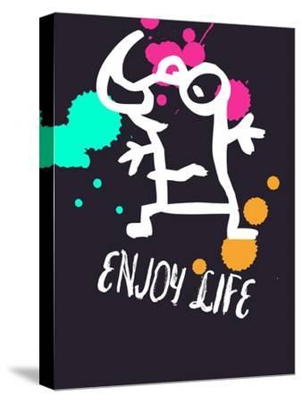 Enjoy Life 2-Lina Lu-Stretched Canvas Print