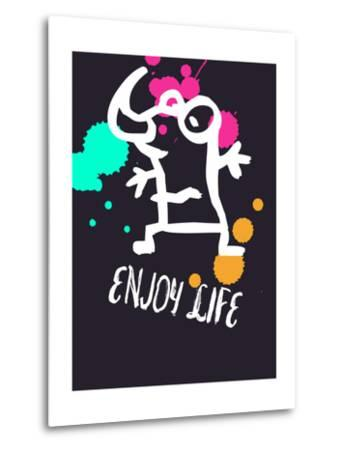 Enjoy Life 2-Lina Lu-Metal Print