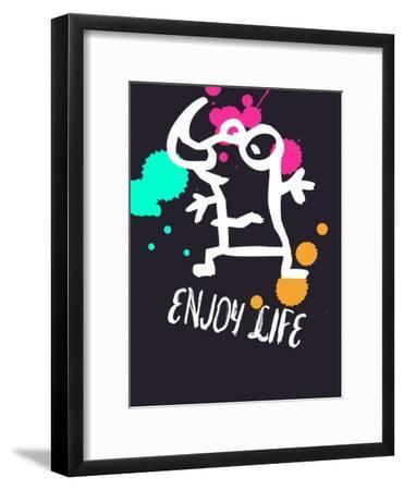 Enjoy Life 2-Lina Lu-Framed Art Print