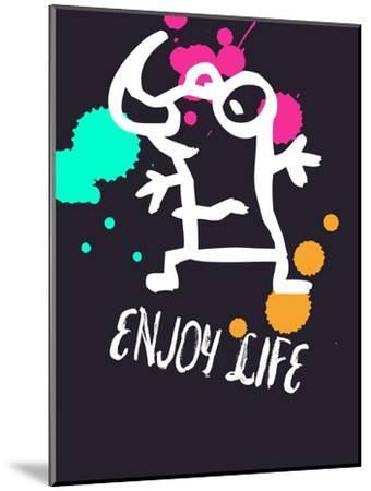 Enjoy Life 2-Lina Lu-Mounted Art Print
