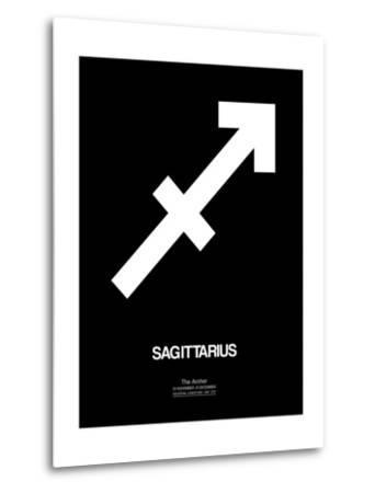 Sagittarius Zodiac Sign White-NaxArt-Metal Print
