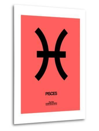Pisces Zodiac Sign Black-NaxArt-Metal Print