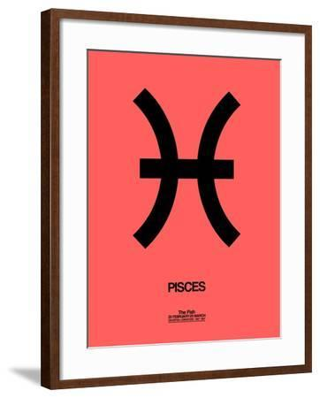 Pisces Zodiac Sign Black-NaxArt-Framed Art Print
