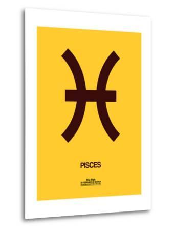 Pisces Zodiac Sign Brown-NaxArt-Metal Print