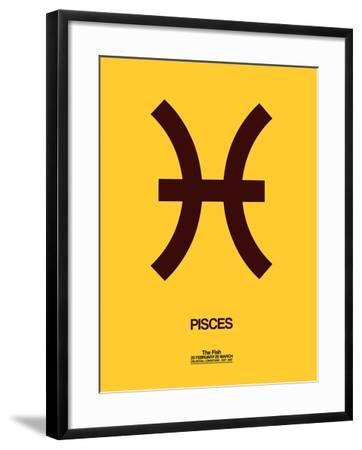 Pisces Zodiac Sign Brown-NaxArt-Framed Art Print