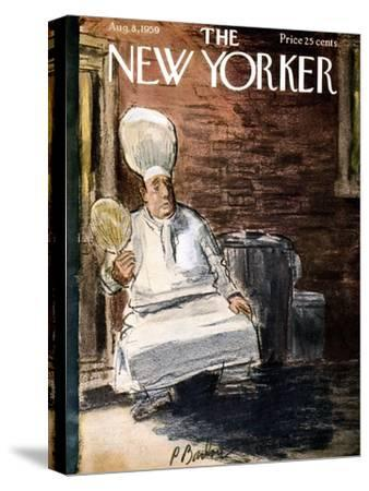 The New Yorker Cover - August 8, 1959-Perry Barlow-Stretched Canvas Print