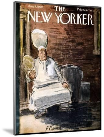 The New Yorker Cover - August 8, 1959-Perry Barlow-Mounted Premium Giclee Print