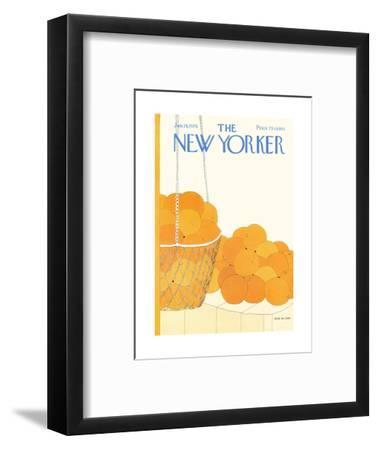 The New Yorker Cover - January 19, 1976-Gretchen Dow Simpson-Framed Premium Giclee Print