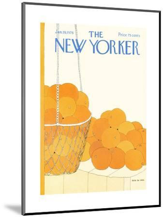 The New Yorker Cover - January 19, 1976-Gretchen Dow Simpson-Mounted Premium Giclee Print
