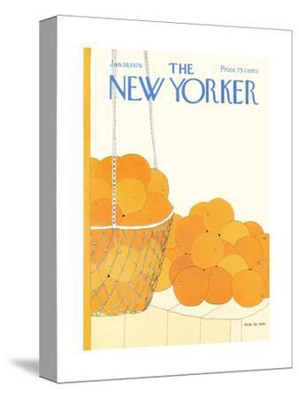 The New Yorker Cover - January 19, 1976-Gretchen Dow Simpson-Stretched Canvas Print