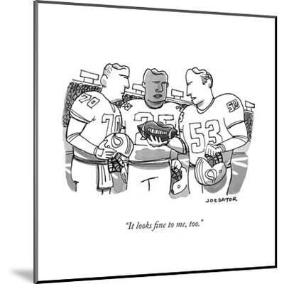 """It looks fine to me, too."" - New Yorker Cartoon-Joe Dator-Mounted Premium Giclee Print"