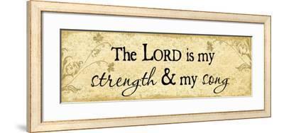 Lord Is My Strength-Jennifer Pugh-Framed Art Print