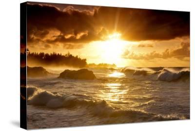 Sunset-Dennis Frates-Stretched Canvas Print