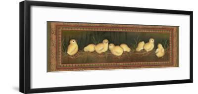 Eight Chicks-Kim Lewis-Framed Art Print