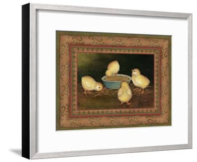 Chicks with Seed-Kim Lewis-Framed Art Print