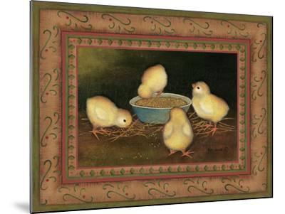 Chicks with Seed-Kim Lewis-Mounted Art Print